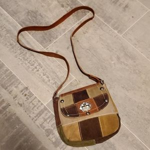 Mini Patchwork Suede Leather Boho Bag